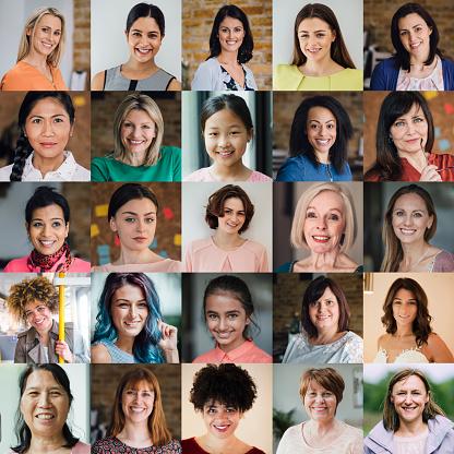 Females Headshot Collage 938558470