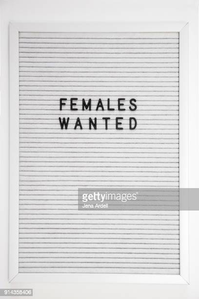 Females Wanted Letterboard