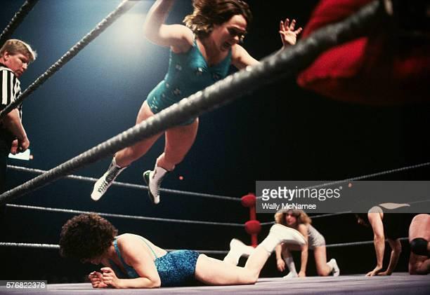 Females Wrestling in the Ring