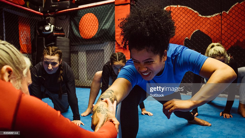 Females Wrestling inTraining : Stock Photo