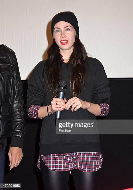Femen Founder Sasha Shevchenko attends the 'Je Suis Femen' : Alain Margot's movie Screening at Luminor Cinema on May 4, 2015 in Paris, France.