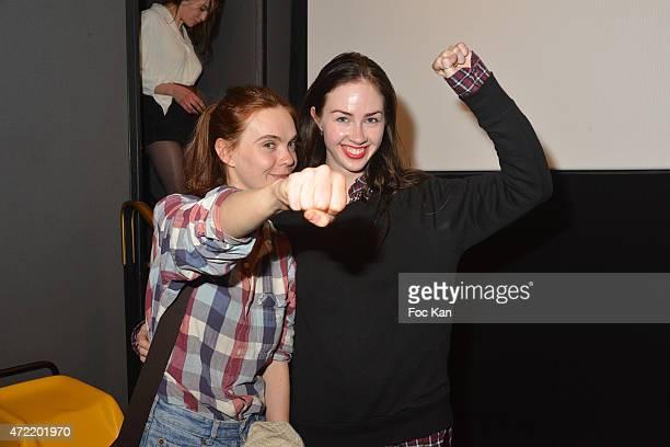 Femen Founders painter Oxana Shachko and Sasha Shevchenko attend the 'Je Suis Femen' : Alain Margot's movie Screening at Luminor Cinema on May 4,...