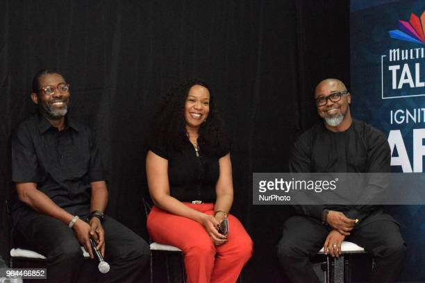 Femi Odugbemi Academy Director West Africa MultiChoice Talent Factory Wangi MbaUzoukwu Regional Director MNet West Africa and John Ugbe Managing...