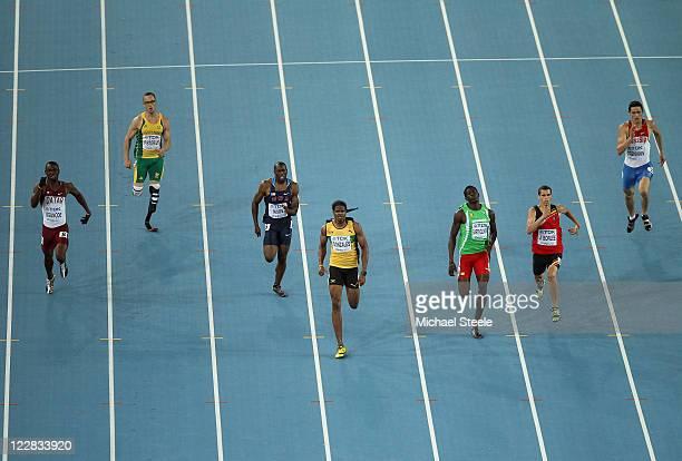 Femi Ogunode of Qatar, Oscar Pistorius of South Africa, Greg Nixon of United States, Jermaine Gonzales of Jamaica, Rondell Bartholomew of Grenada,...