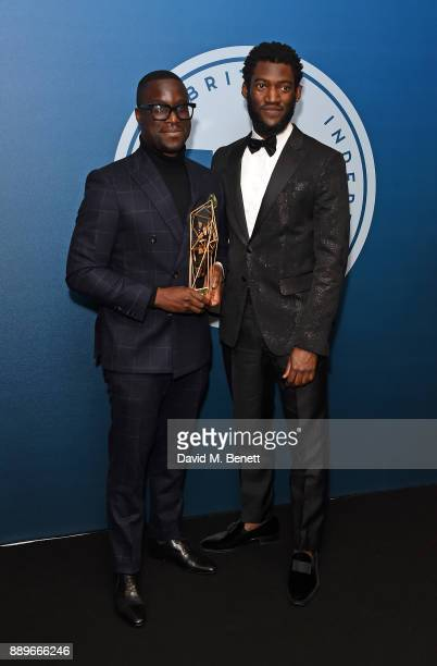 Femi Oguns and Malachi Kirby attend the British Independent Film Awards held at Old Billingsgate on December 10 2017 in London England