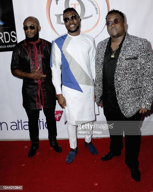 Femi Ojetunde Kayo Musiq and Brian Soko arrive for 2nd Annual HAPAwards held at Alex Theatre on September 30 2018 in Glendale California