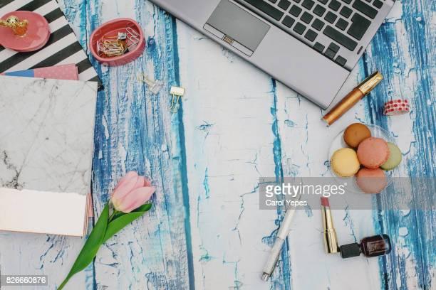 feminine desktop workspace