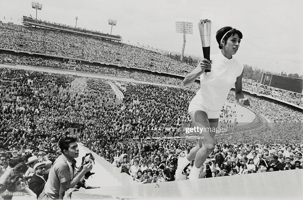 Norma Enriqueta Basilio Lighting Olympic Fire : News Photo
