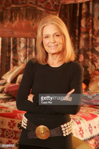 Feminist Gloria Steinem poses for a portrait on January 21 2005 in New York City