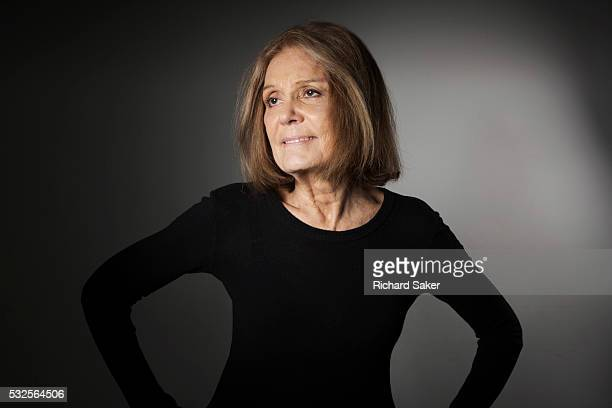 Feminist journalist and social and political activist Gloria Steinem is photographed for the Observer on February 23 2016 in London England