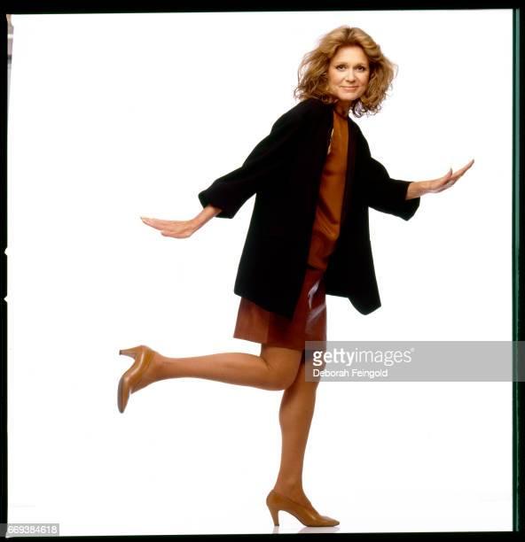 Feminist journalist political activist Gloria Steinem poses for a portrait in 1987 in New York City New York