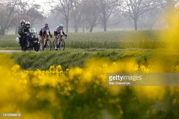 Femke Gerritse of Netherlands and Team Parkhotel Valkenburg & Marta Lach of Poland and Ceratizit – WNT Pro Cycling Team during the 24th La Fleche...