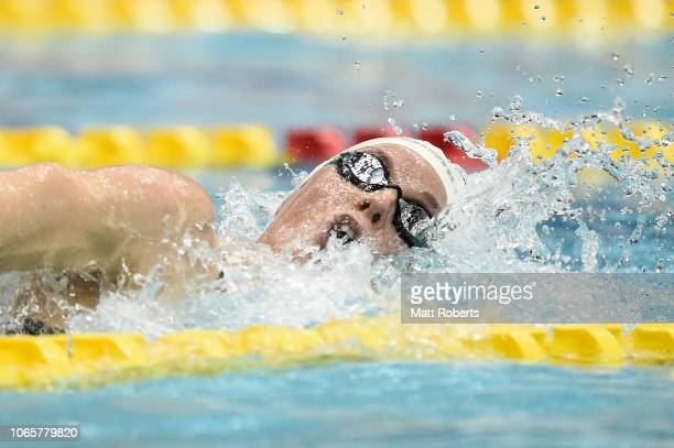 Femke Heemskerk of Netherlands competes during the Women's 200m Freestyle Final on day two of the FINA Swimming World Cup at Tokyo Tatsumi...
