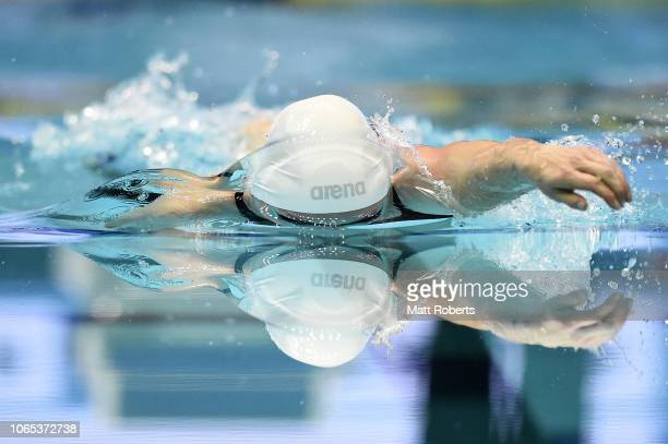 Femke Heemskerk of Netherlands competes during the Women's 400m Freestyle Final on day one of the FINA Swimming World Cup at Tokyo Tatsumi...