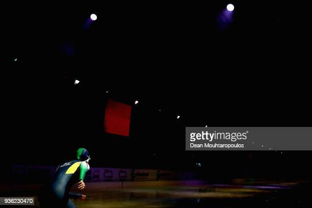 Femke Kok of the Netherlands gets ready to compete during De Zilveren Bal or Silver Ball held in the Elfstedenhal on March 21 2018 in Leeuwarden...
