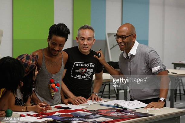 COLLECTION 'Femme Fatale' Episode 203 Pictured Contestants Jeffrey Williams Cesar Galindo Fashion Show producer Stefan Campbell