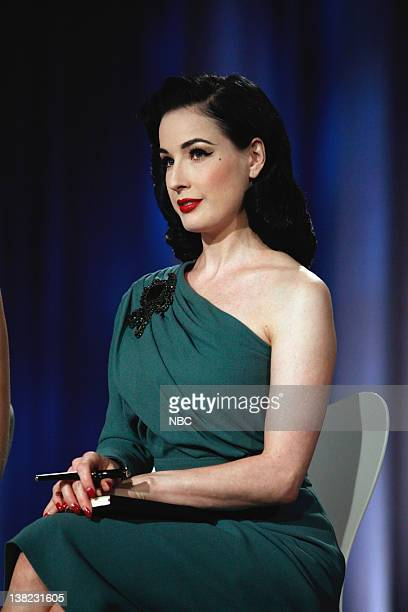 COLLECTION Femme Fatale Episode 203 Pictured Guest Judge Dita Von Teese