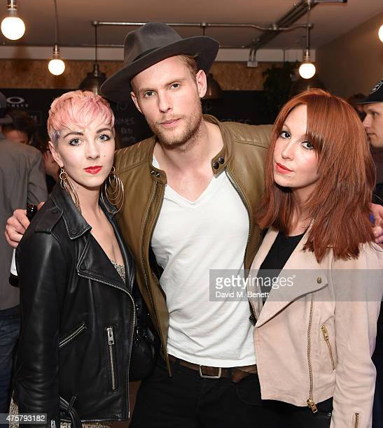 Femme Jack Fox and Laura Welsh attend the launch of OAKLEY IN RESIDENCE LONDON a popup cycling destination and hangout for creative collaboration on...