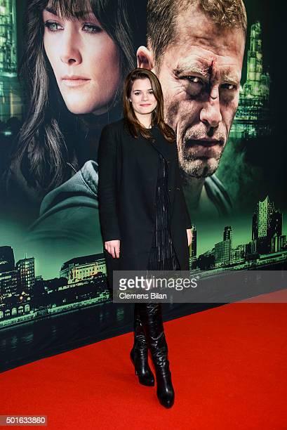Femme Schmidt attends the 'Tatort Der Grosse Schmerz' premiere in Berlin at Kino Babylon on December 16 2015 in Berlin Germany