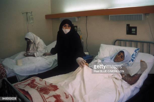 Femmes kurdes ayant été gazées en mars 1988 dans le village de Halabja, Irak.