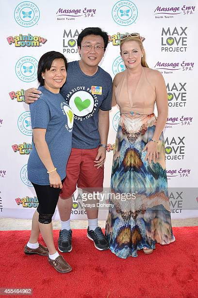 Fen Chan Cheong Choon Ng and Melissa Joan Hart attend the MaxLove LoomAThon 2 with Melissa Joan Hart on September 14 2014 in Tustin California
