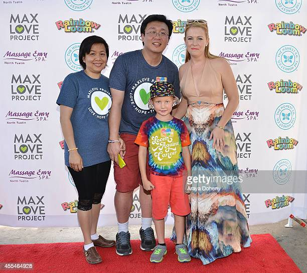 Fen Chan Cheong Choon Ng Max Wilford and Melissa Joan Hart attend the MaxLove LoomAThon 2 with Melissa Joan Hart on September 14 2014 in Tustin...