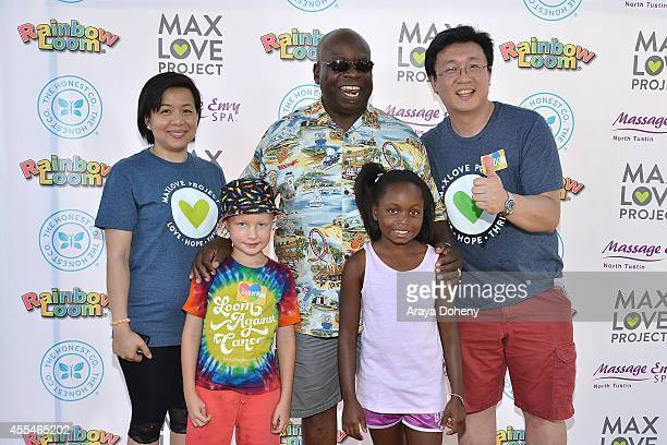 Fen Chan Max Wilford Mayor Al Murray and Cheong Choon Ng attend the MaxLove LoomAThon 2 with Melissa Joan Hart on September 14 2014 in Tustin...