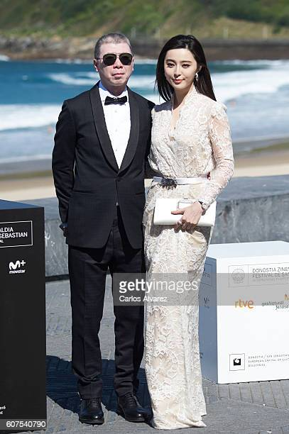 Fen Xiaogang and Fan Bingbing attend 'I Am Not Madame Bovary' photocall during 64th San Sebastian Film Festival on September 18 2016 in San Sebastian...