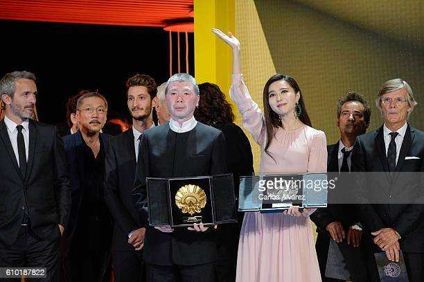 Fen Xiaogang and Fan Bingbing receive Best Film Award for 'I Am Not Madame Bobary' film and Silver Sheel For Best Actress for 'I am Not Madame...