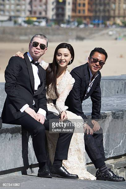 Fen Xiaogang Fan Bingbing and Wang Zhonglei attend 'I Am Not Madame Bovary' photocall during 64th San Sebastian Film Festival on September 18 2016 in...