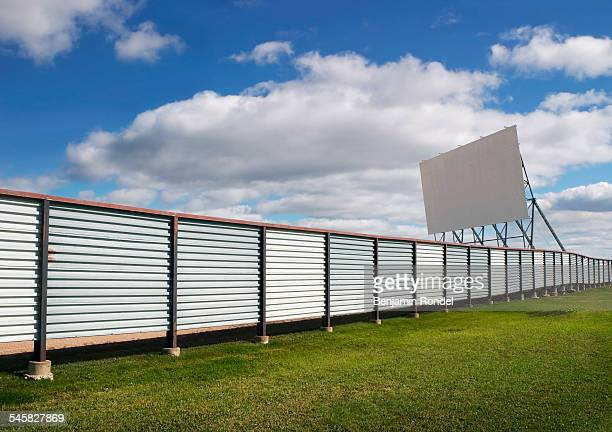 Fence and Drive-in Theater Screen