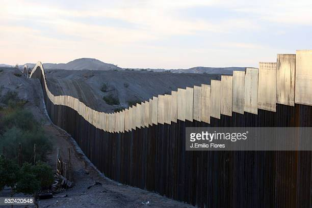 Fence as seen from Mexico