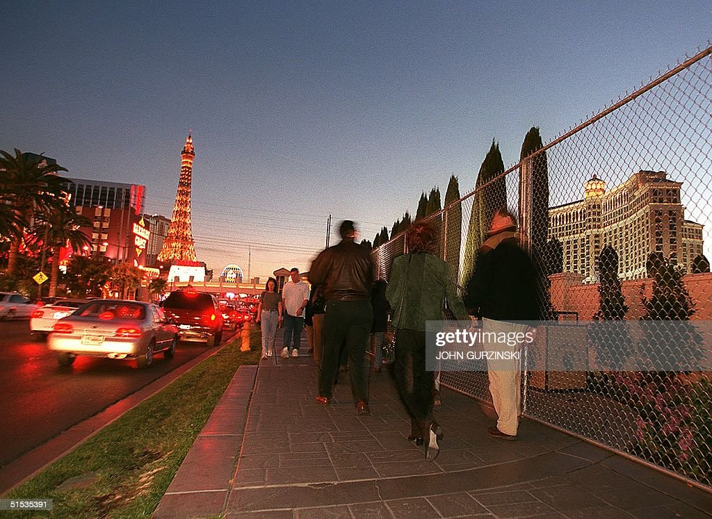 A fence in front of Caesars Palace Hotel greets visitors along the Las Vegas Strip, near the intersection of Flamingo Blvd. and Las Vegas Blvd. as Las Vegas, Nevada prepares for an influx of up to 400,000 party revelers for the New Years celebration in Las Vegas , Nevada. Hotel properties have taken extra security precautions such as fencing off access from the strip and hiring extra security. AFP PHOTO/John Gurzinski