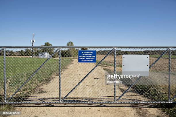 A fence stands at an entrance to a 3M Co disposal site in Woodbury Minnesota US on Thursday Oct 18 2018 3M's Cottage Grove factory had been churning...