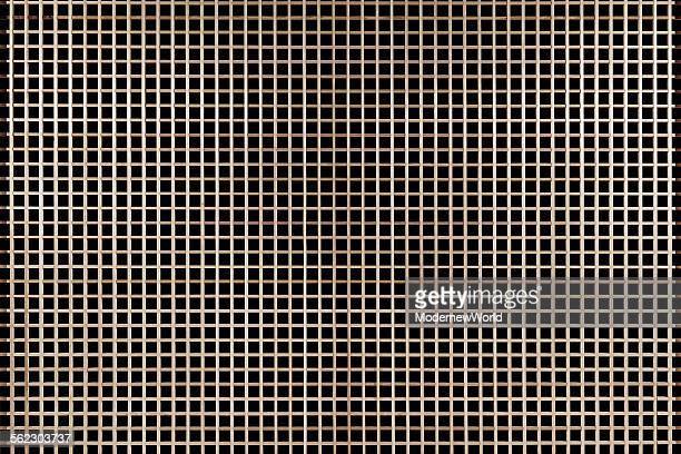 A fence with black background
