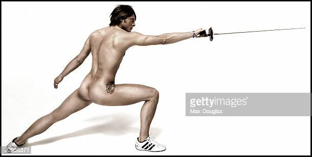 Fencer Aldo Montano poses for a portrait shoot in Milan on May 05 2005