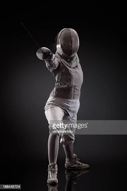 pose esgrimista - esgrima esporte de combate - fotografias e filmes do acervo