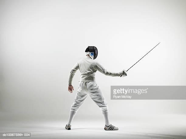 Fencer, studio shot
