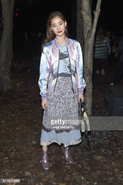 Fencer Yuko Arai attends the Coach 1941 front row during New York Fashion Week at Basketball City on February 13 2018 in New York City