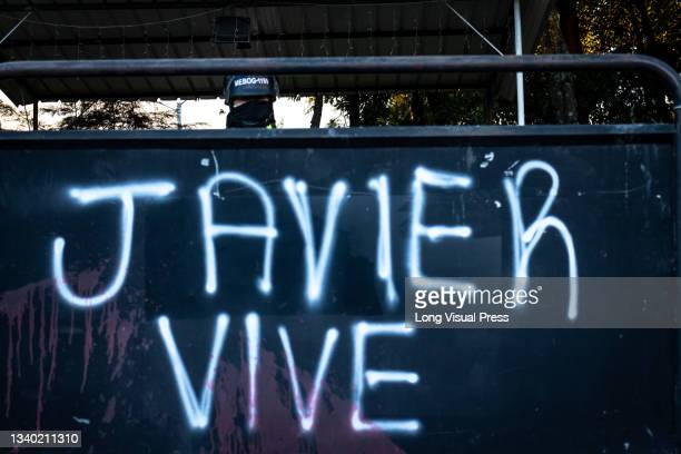Fences that protect the Villa Luz CAI police station read 'Javier lives' were police officers tortured Javier Ordonez on September 9 later the same...
