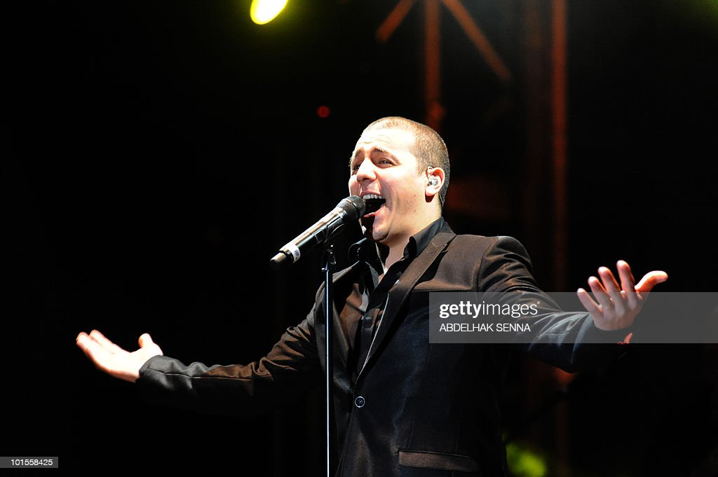 Fench singer Faudel performs during the Mawazine international music festival in Rabat on May 22, 2010. Morocco's main Islamist opposition party has called for gay singer Elton John to be banned from performing at the festival, a party leader said.