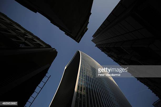 Fenchurch Street towers above more traditional buildings on March 12 2015 in London England Number 20 Fenchurch Street is London's newest skyscraper...