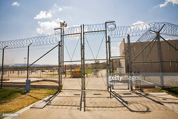 Fencing of the California State Prison in Los Angeles County. California prison officials, grappling with severe overcrowding, are considering moving...