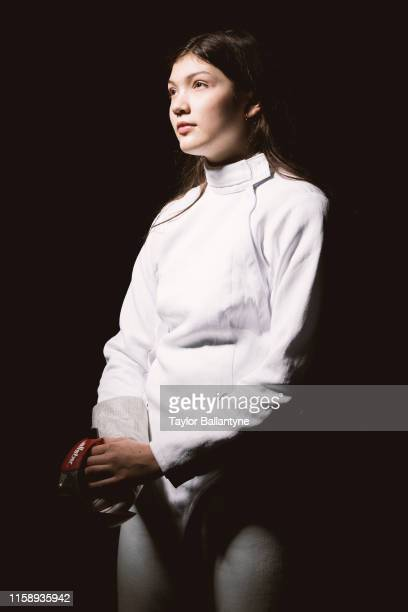 Portrait of Lola Possick posing during photo shoot at Meredith Studios New York NY CREDIT Taylor Ballantyne
