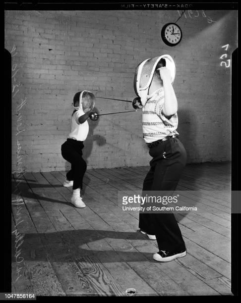 Fencing School 10 December 1955 Armond Keith 7 yearsNorman Levitt 8 yearsRaymond Levine 6 yearsCathy Levine 8 yearsRosalind Welsh 11 yearsJudy Devore...
