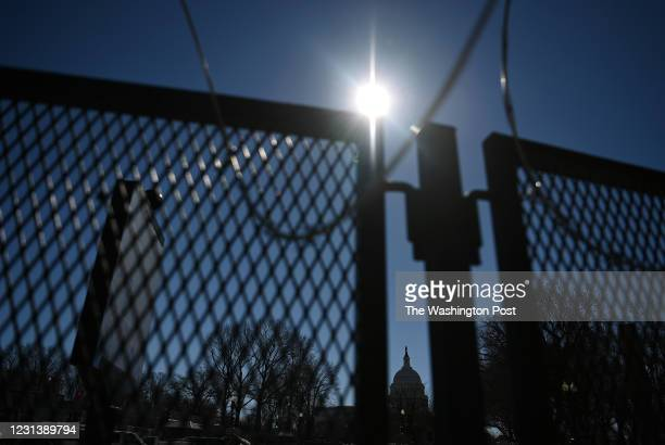 Fencing that surrounds the United States Capitol is seen on Thursday February 25, 2021 in Washington, DC. The fencing went up following the riot at...
