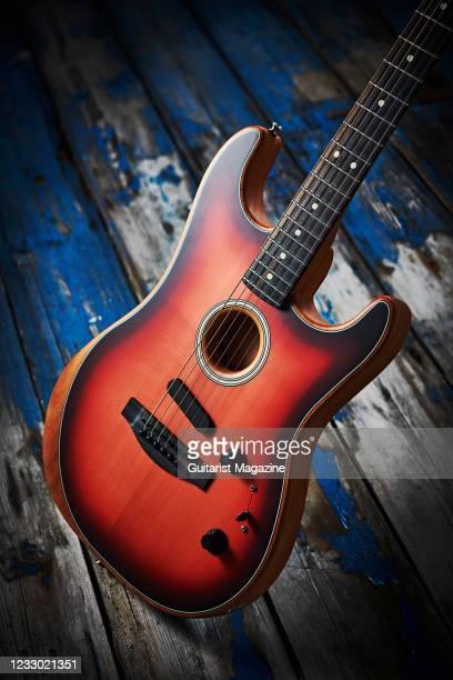 Fender American Acoustasonic Stratocaster, taken on March 5, 2020.