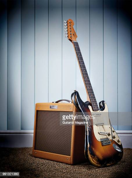 A Fender Custom Shop '59 Stratocaster electric guitar and Fender Pro Junior IV Ltd Edition combo amplifier taken on December 5 2017