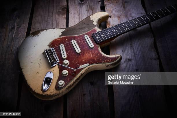 Fender Custom Shop Masterbuilt Dale Wilson Ô62 Stratocaster Ultra Relic electric guitar, taken on November 19, 2019.