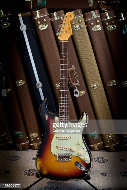 Fender Custom Shop Stratocaster electric guitar on display at Longleat House October 14 2010